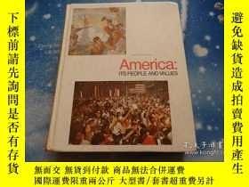 二手書博民逛書店America;ITS罕見PEOPLE AND VALUES【美