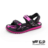 G.P(女)高彈力舒適兩用涼拖鞋 女鞋-黑桃(另有黑.紫)