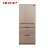 [SHARP 夏普]601公升 日本原裝六門變頻環保冰箱-星鑽棕 SJ-GF60BT-T