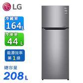LG 208公升直驅變頻上下門冰箱 / 星辰銀 GN-L297SV~含拆箱定位