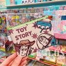 正版 迪士尼 玩具總動員 巴斯胡迪三眼怪 雙面斜紋皮革零錢包 鑰匙圈零錢包 收納包 COCOS WZ075