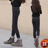 女童修身牛仔褲秋冬裝2020兒童中大童彈力鉛筆小腳一體絨褲子洋氣  【端午節特惠】