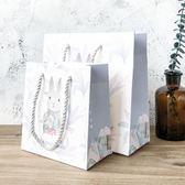 簡約禮品袋復古大號袋子紙袋文藝可愛生日清新小號手提手提袋正韓【全館89折低價促銷】