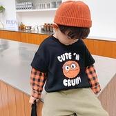 男童T恤2020秋裝新款假兩件寶寶長袖上衣小童打底衫兒童洋氣衣服  【端午節特惠】