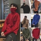 冬季男士高領毛衣韓版針織衫同款2019新款外套加厚男款線衣潮