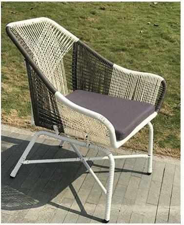 【南洋風休閒傢俱】戶外休閒桌椅系列-扇形編藤戶外桌椅組 戶外藤椅 蝙蝠藤椅 一桌二椅組