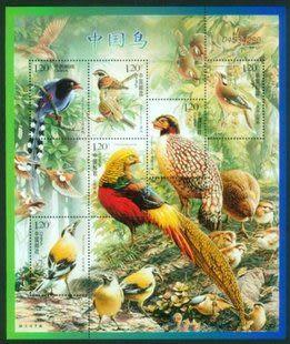 收藏 郵票品 集郵 2008年2008-4T中國鳥 小型張小全張