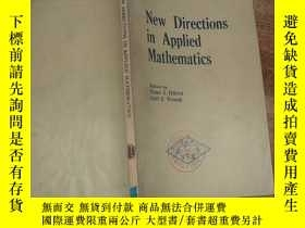 二手書博民逛書店New罕見Directions in Applied Mathe