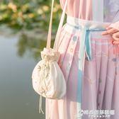 手提繡花包她說漢家衣裳繡花手提斜挎兩用小荷包抽繩漢服荷包 時尚芭莎