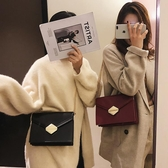 斜背包chic小包包女2020新款韓版時尚鎖扣單肩小方包ins百搭鏈條斜挎包
