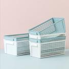 (小)長方收納籃-北歐風收納居家桌面縷空瀝水萬用收納盒 可疊放 網籃 置物盒【AN SHOP】
