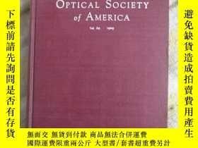二手書博民逛書店Journal罕見of the OPTICAL SOCIETY of AMERICA(美國光學學會誌)Y798
