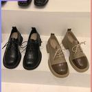 紳士鞋 春秋單鞋女2021年春秋新款繫帶秋季中跟秋款小眾設計感復古小皮鞋 伊蘿