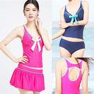 3三件式短裙泳裝.運動美人.柔美氣質三件...
