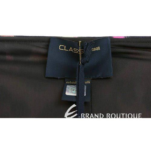 CLASS roberto cavalli 桃粉色豹紋拼接洋裝 1140260-41