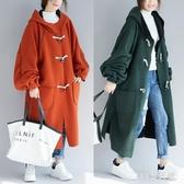 大尺碼外套 女裝秋冬裝加厚過膝外套寬鬆顯瘦長款風衣200斤長袖外套 EY8528【123休閒館】