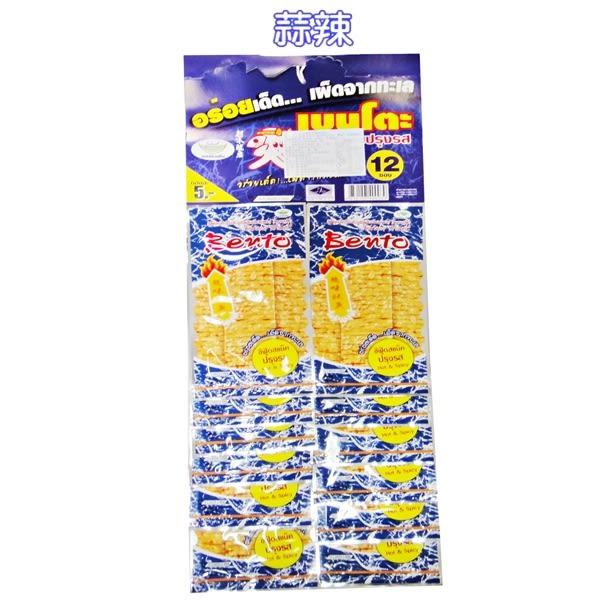BENTO超味魷魚片-蒜香味(藍色)一掛12包,6克/包 泰國必買】