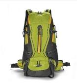 戶外旅遊登山雙肩包45L男女懸浮支架防水旅行徒步背包野營背囊(綠色)