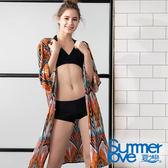 【Summer Love 夏之戀】長罩衫比基尼三件式泳裝(S19701)
