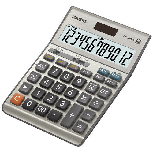 DF-120BM卡西歐CASIO桌上型商用12位數計算機