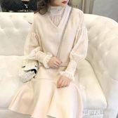 秋季新款女裝新品套裝時尚毛呢連衣裙秋冬款兩件套  9號潮人館