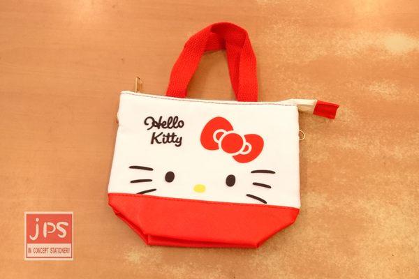 Hello Kitty 凱蒂貓 3C可提觸控包 收納包 手提包 大臉 紅白 664694