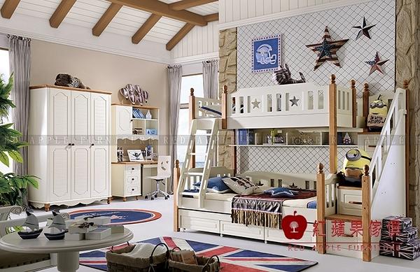 [ 紅蘋果傢俱 ] LOD-6631 兒童系列 雙層床 單人床 床架 床組 數千坪展示