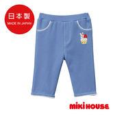 MIKI HOUSE  日本製 舞颯兔蛋糕8分褲 (藍)