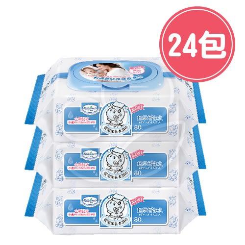Baan 貝恩 嬰兒保養柔濕巾-無香料 80抽【24包/箱】【佳兒園婦幼館】
