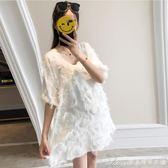 韓版孕婦裝夏裝洋裝新款時尚中長款上衣寬鬆顯瘦雪紡孕婦裙艾美時尚衣櫥