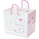 粉色愛心紙袋 兩種規格 平放袋 禮盒袋 紙袋 購物袋 禮品袋 手提袋 蛋糕盒袋 包裝袋【D201】