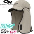 【Outdoor Research 美國KIDS SUN RUNNER CAP 兒童 抗UV透氣護頸帽〈深灰〉】243434/防曬帽/棒球帽