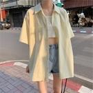港風襯衫女短袖復古港味設計感小眾輕熟chic法式溫柔風別致上衣夏