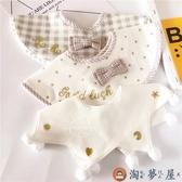 寶寶純棉口水巾日系小清新嬰兒圍兜兒童假領子【淘夢屋】