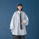 襯衫 女高級感襯衣外穿百搭復古港味法式寬松慵懶風韓版上衣【牛年大吉】