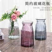 彩色透明玻璃花瓶 歐式簡約客廳擺件水培鮮花插花干花瓶