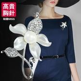 胸針 中國風新品如意胸針日韓國女仿珍珠胸花別針高檔氣質飾品生日禮物 歐歐