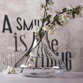 手工玻璃花瓶透明花瓶插花裝飾花器客廳擺設【英賽德3C數碼館】
