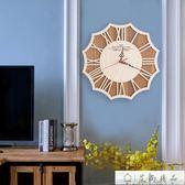 掛鐘-原木美式復古北歐現代簡約掛鐘-艾尚精品 艾尚精品