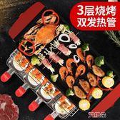 電烤爐家用無煙燒烤架韓式不粘電烤盤室內燒烤爐烤肉鍋烤肉機烤魚           艾維朵