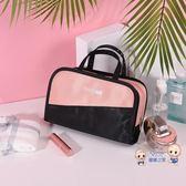 化妝包 網紅化妝包小號便攜韓國簡約大容量化妝盒少女心化妝品收納袋 6色