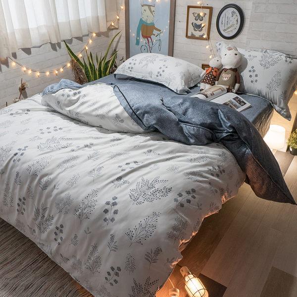 天絲床組 silicon-forest  Q4雙人加大薄床包與兩用被四件組(40支)  100%天絲 棉床本舖