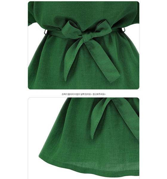 【Fabulous!!】淑女氣質V領素色收腰百搭上衣(綠色 粉色 可選)