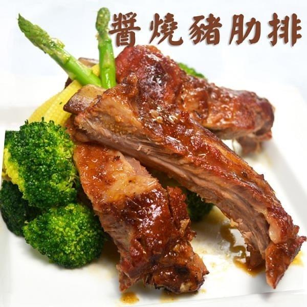 【南紡購物中心】大口市集-BBQ頂級醬燒炭烤豬肋排1包(800-1000g/包)