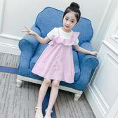 女童夏裝洋裝兒童潮衣韓版童裝公主裙洋氣短袖背帶裙子 韓語空間