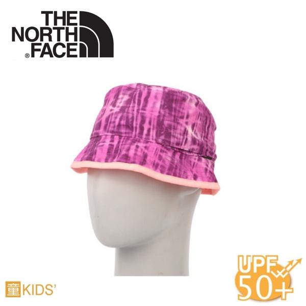 【The North Face 童 抗UV遮陽帽《桃粉紫蘆葦印花》】A9MZ/雙面漁夫帽/防曬/遮陽帽