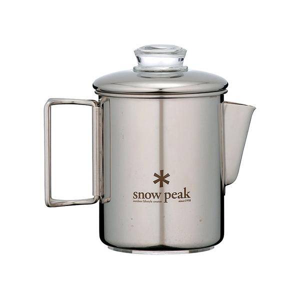 [Snow Peak] SP不鏽鋼露營咖啡壺-6Cups(PR-006) 秀山莊戶外用品旗艦店