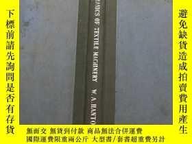 二手書博民逛書店Mechanics罕見of textile machinery紡織機械力學Y13137