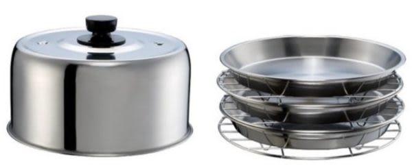 宗霖 萬國牌高帽子鍋蓋組 全不鏽鋼鍋蓋組 鍋蓋*1 蒸盤*3 盤架*3 高帽子蒸籠 10人份電鍋 2647