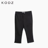 東京著衣【KODZ】褲腳開衩七分褲-XS.S.M(6010073)